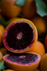 citrus, orange, purple, blood orange, macro photography, produce, fruit, food, juice,