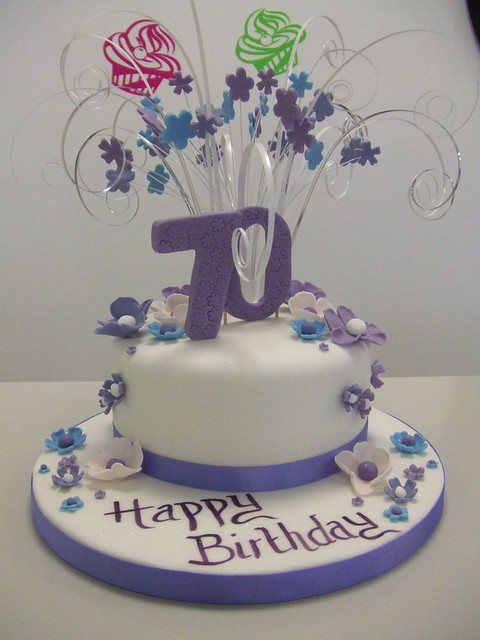 Cake 70th birthday flickr photo sharing for 70th birthday cake decoration ideas