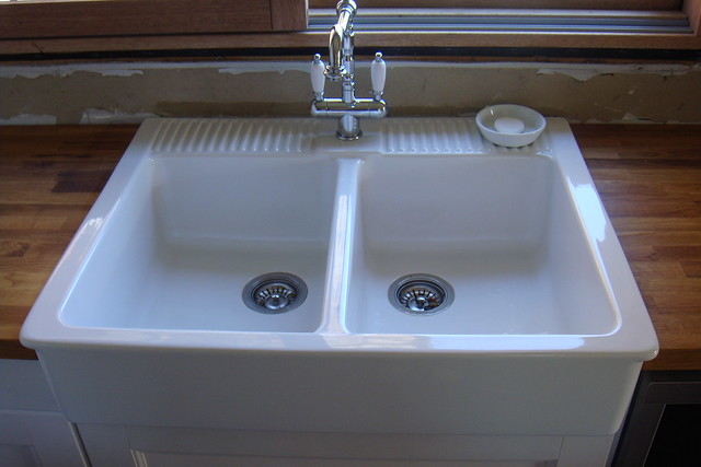Ikea Godmorgon High Gloss Grey ~ Kitchen Sink  Ikea Domsjo double sink  By Louelt1  Flickr  Photo