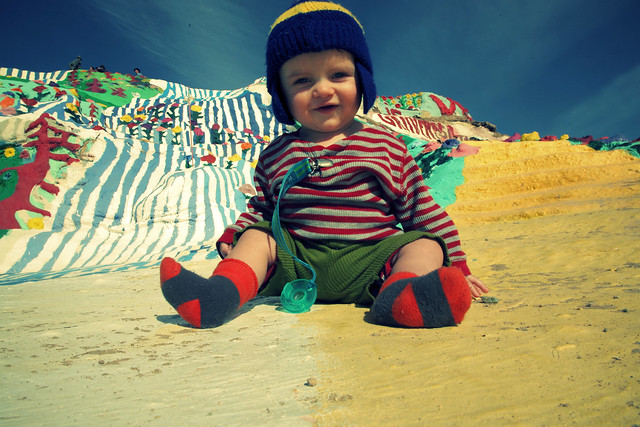 Jackson at Salvation Mountain - Six months old
