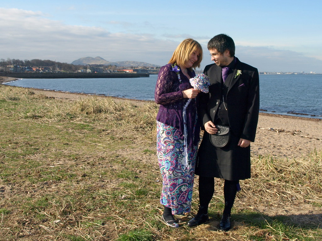 Kim & Rob, Musselburgh Beach, 1 Mar 11
