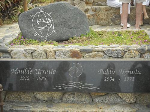 Pablo Neruda's grave
