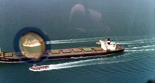 Departing Carrier, Port Hedland - March 1977