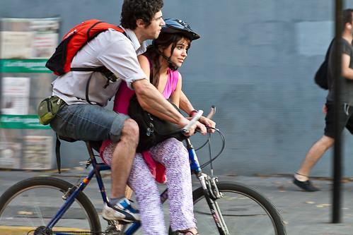 Compartiendo la bici