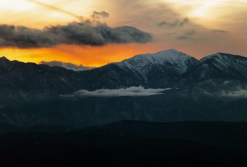 winter sunset red orange snow nature clouds canon landscape outdoors hiking highdesert 5d hesperia february southerncalifornia mojavedesert blm sangabrielmountains markii victorville applevalley oldbaldy ordmountains mountsanantonio