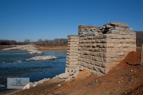 railroad bridge winter lake abandoned tn tennessee southern sunken rankin abutment cockecounty dougless