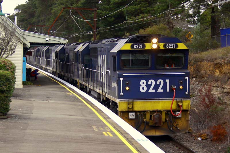 8221 coalie through Medlow Bath Station by Corey Gibson