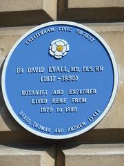 Photo of David Lyall blue plaque