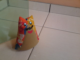 Kitty go doorstop