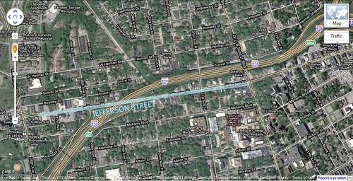 Jefferson St & I-40, Nashville (via Google Earth)