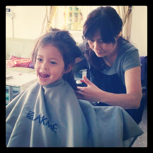 Josie (finally) gets a haircut. #taiwan #nantou #family