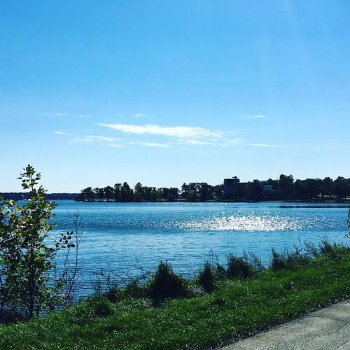 A look across Green Lake towards the Roger Williams Inn. #greenlake #greenlakewi #glcc
