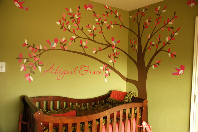 Abigail grace tree mural flickr photo sharing for Baby nursery tree mural