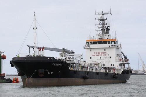 Shell Australia's bunker vessel 'MV Zemira'
