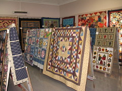BUC Community Program Patchwork & Quilting Class work on exhibition