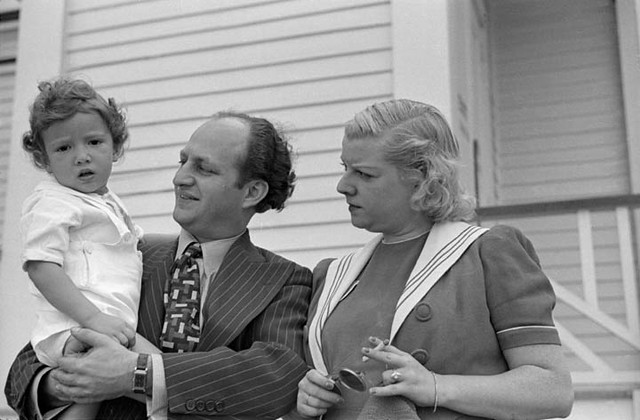 Larry Fine of the Three Stooges with his wife Mable and sou2026 : Flickr - Photo Sharing!