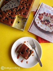 Currant Slices with Spiced Apple syrup