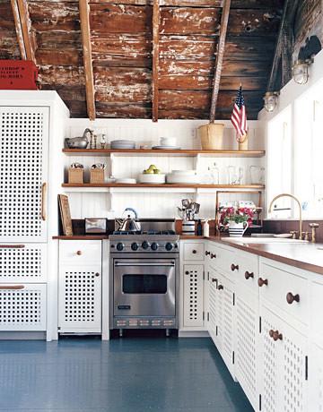 Beach Kitchen With Painted Floors Benjamin Moore Deep
