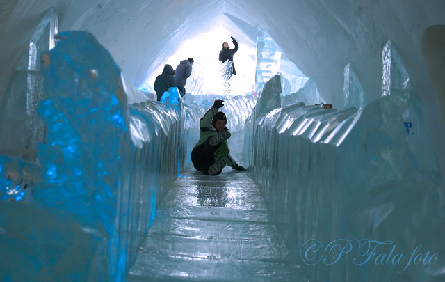 The Slide Quebec Ice Hotel Flickr Photo Sharing