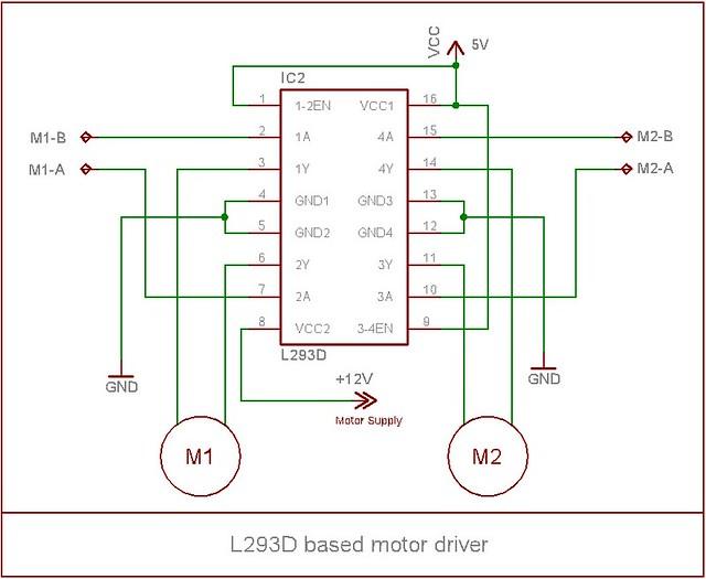 Pin L293d Motor Driver Circuit Diagram On Pinterest
