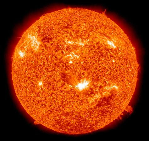 The Sun observed from space