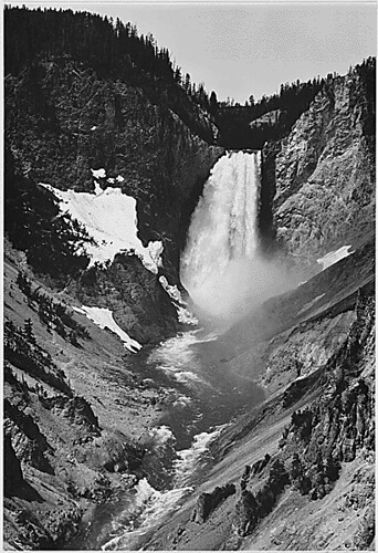 """Yellowstone Falls,"" Yellowstone National Park, Wyoming, 1933 - 1942"