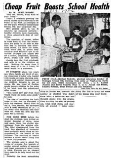Cheap Fruit Boosts School Health from the Philadelphia Inquirer - February 15, 1956