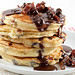 choc chip pancakes with nutella maple syrup