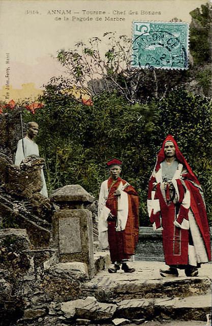 Annam - Tourane - Chef des Bonzes de la Pagode de Marbre, 1905
