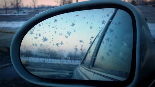snowflake morning car sunrise reflections mirror lomo phone mourning motorola carmirror droidx