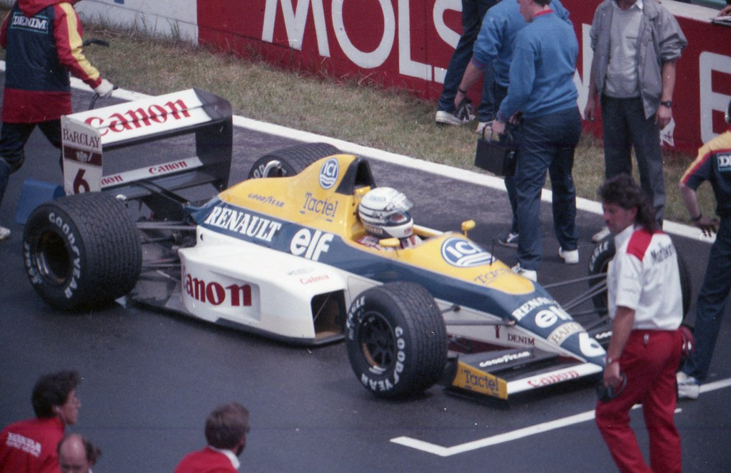 1989 F1 Canada Montreal  Recardo Patrese Williams Renault on the grid