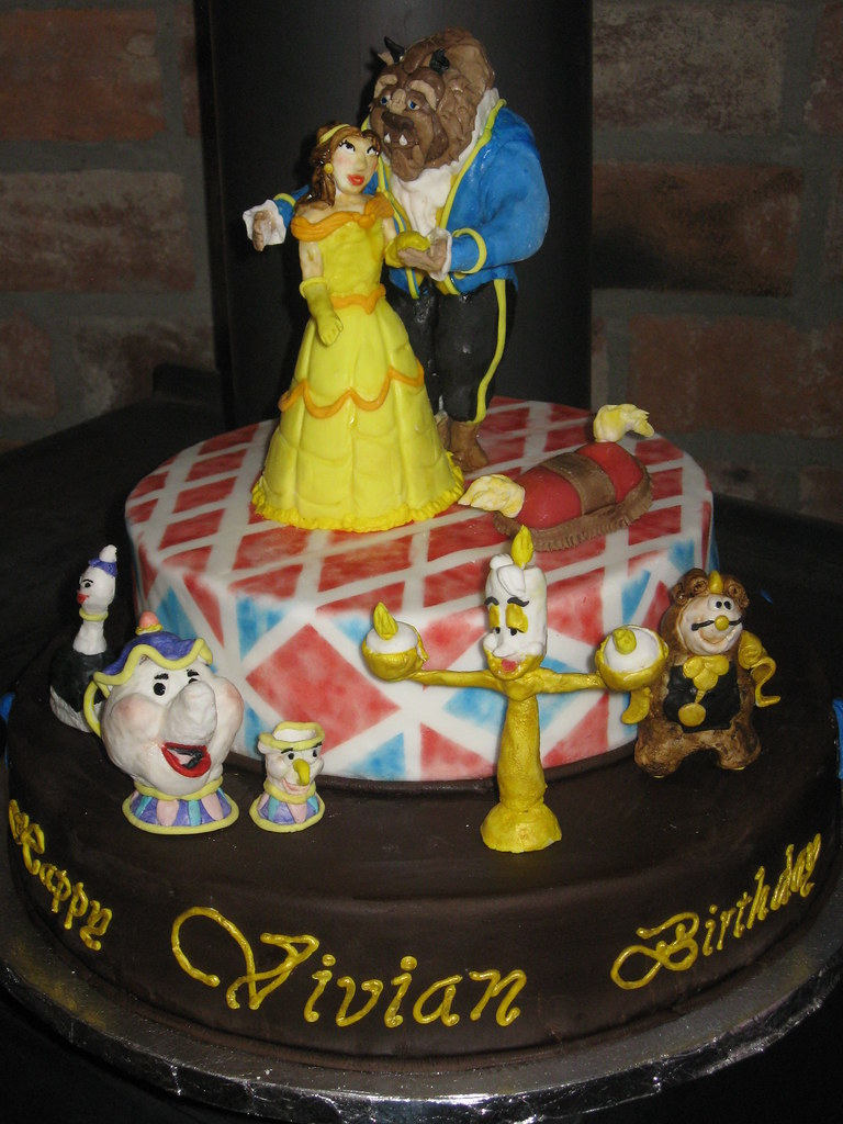 Beauty And The Beast Birthday Cake A Photo On Flickriver