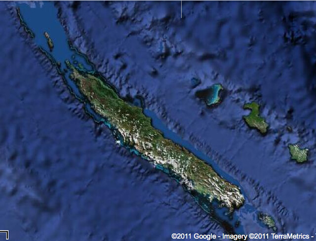 New Caledonia Satellite Google Earth