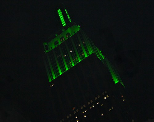 The Empire State Building - St Patrick's Day '11