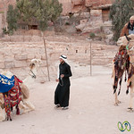 Hopping on the Camel to Go Home - Petra, Jordan