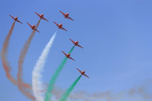 The Surya Kiran Aerobatic Team (SKAT) at Aero India 2011
