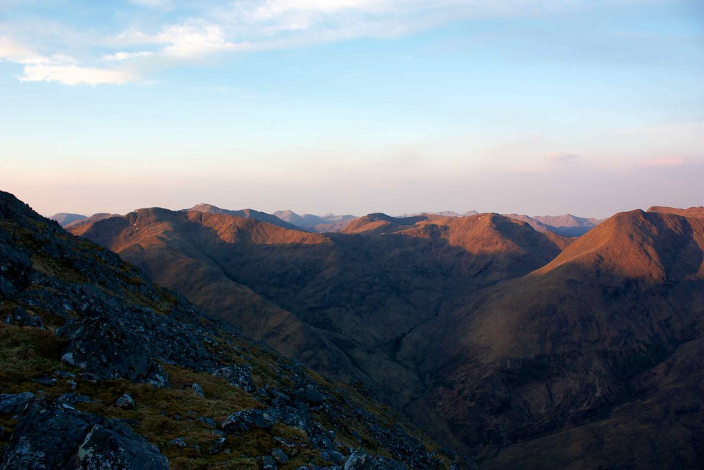 Dawn hits the South Shiel Ridge