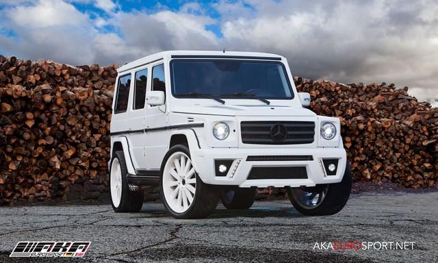 mercedes benz g class g wagon g500 g550 g55 amg body kit white front - White G Wagon