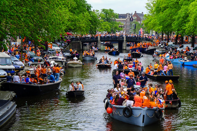 Prinsengracht @ King's Day (Amsterdam)