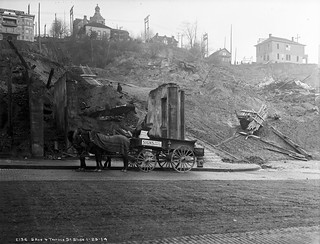 Landslide at Fifth and Terrace, 1914