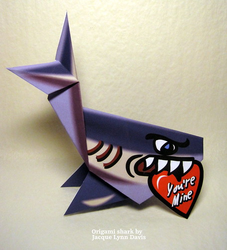Paper Shark 5 Photos | Origami Shark for Valentine's Day | 049