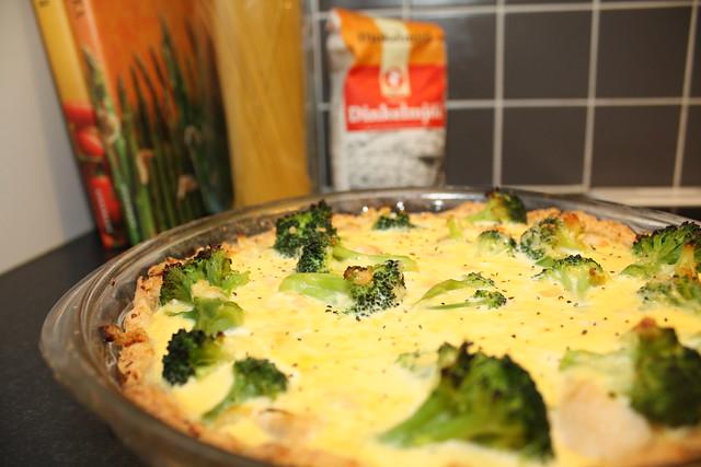 Pie with broccoli