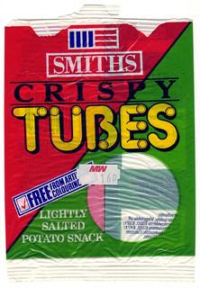 Smiths Crispy Tubes 1989 Front
