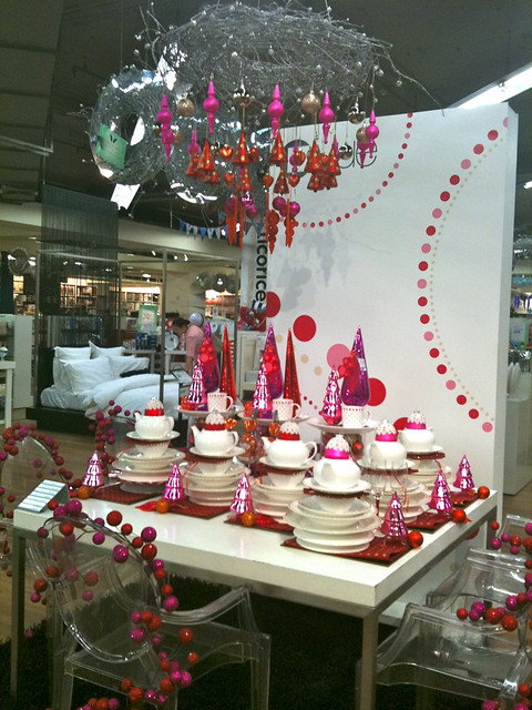 Christmas Decorations Myer : Myer pink christmas decorations and homewares display