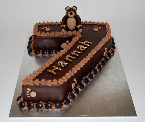 Birthday Cake Ideas Girl 7 : Hannah s Number 7 Birthday Bear Cake   Beautiful Birthday ...