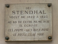 Photo of Stendhal white plaque