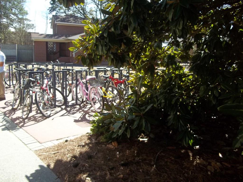 Bicycle Rack at Biology Building