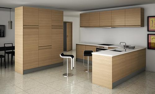 Decora tu cocina siguiendo la tendencia de karlos for Cocinas color madera y blanco