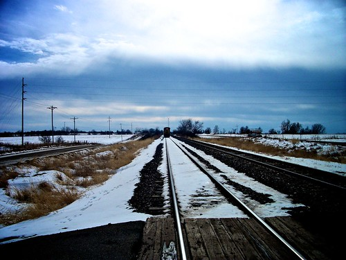 railroad winter rural train missouri