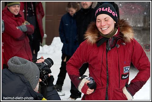 Femundlopet: Nils Bakke takes a picture of Sigrid Ekran